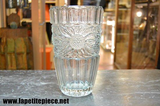 Grand vase en cristal décor tournesol