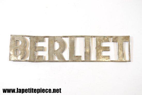 Plaque de camion Berliet 23,5cm x 5,2cm