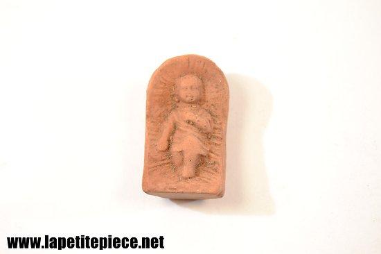 Petit Jésus en terre cuite, santon Carbonel (Provence)