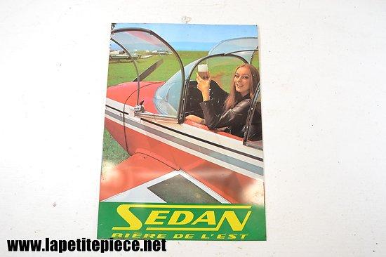 Plaque calendrier Sedan bière de l'Est - Avion