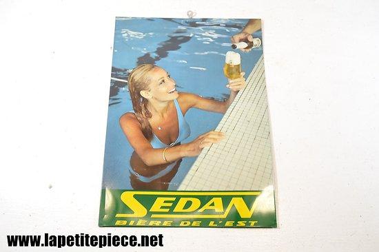 Plaque calendrier Sedan bière de l'Est - Piscine