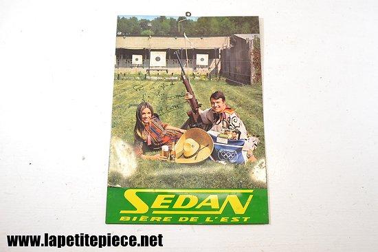 Plaque calendrier Sedan bière de l'Est - Jean-luc Loret (tir sprotif)
