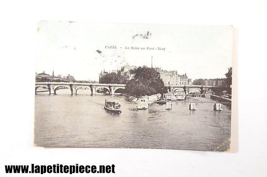 Paris - la Seine au Pont-Neuf - voyagée 1908