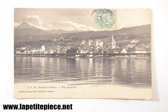 Evian les Bains - Vue générale. Jullien Frères photo. Editeurs, Genève. 1906
