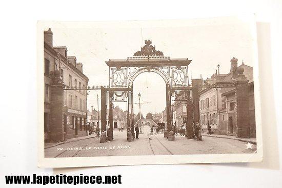 REIMS .22 La porte de Paris 1908 - (établissements Goulet Turpin à gauche)