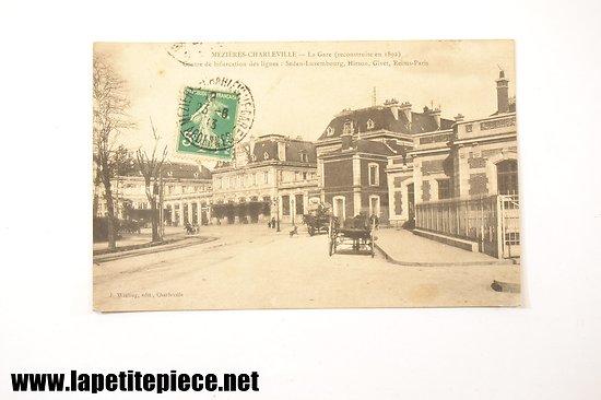 Mézières Charleville - La gare (reconstruite en 1892) contre de bifurcation des lignes: Sedan-Luxembourg, Hirson, Givet, Reims-Paris
