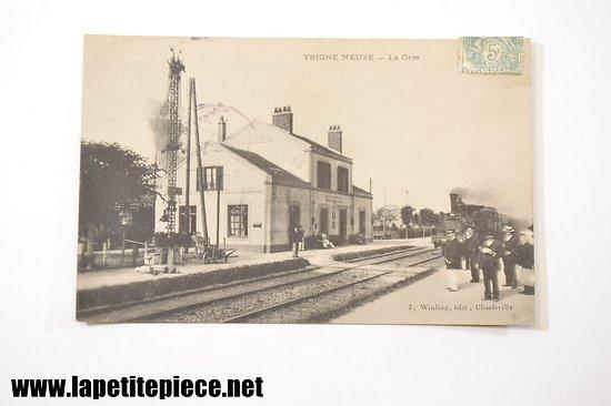 Vrigne Meuse - La Gare, J. Winling edit. 1906