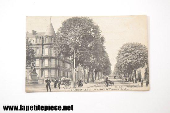 Charleville .7 - Les allées et le monument de 1870-71. Ch. Lefèvre edit.