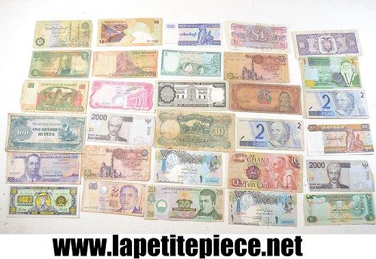 Lot de 30 billets de banque toutes époques