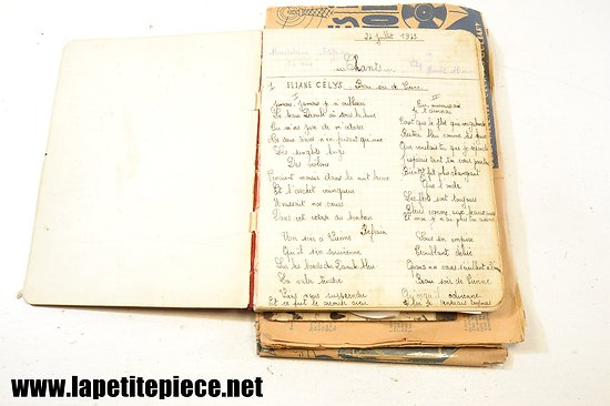 Recueil de chants manuscrit 1943