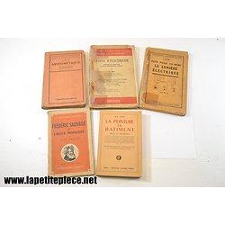 Lot livres techniques Electricité, Hélice propulsive, peinture, arithmétique
