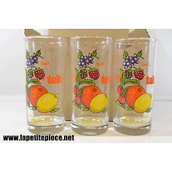 Lot 6 verres à sirop LEJAY-LAGOUTE / Soif Tek