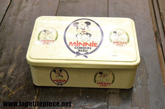 Boite à biscuit Disney Minnie Cordon Bleu / Mickey Chef