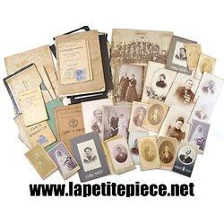 Lot de photos de famille et documents, ville de Dunkerque (Nord) 19eme Siècle