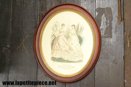 Dessin MODES DE PARIS, Petit courrier des Dames 16 mars 1867