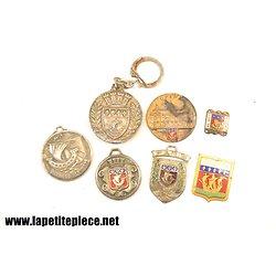 Lot porte-clés médailles PARIS