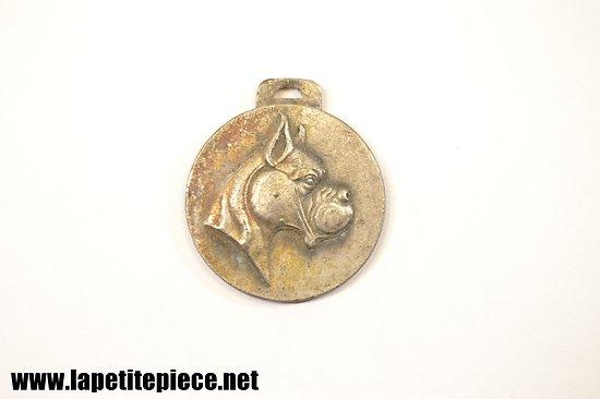 Médaille pour chien, bouledogue - début 20e Siècle