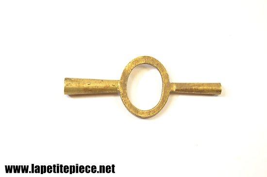Clé remontoir double pour montre gousset / pendule 19e Siècle