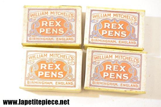 Boite de plumes REX PENS William Mitchall's Birmingham England 1 gross 0917