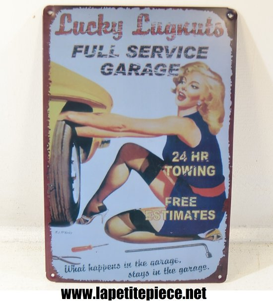 Repro plaque Lucky Lugnuts Full Service Garage