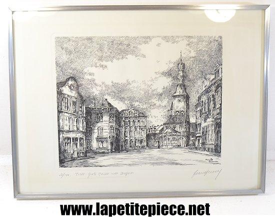 Lithographie Frans Vanderveken - Belfort