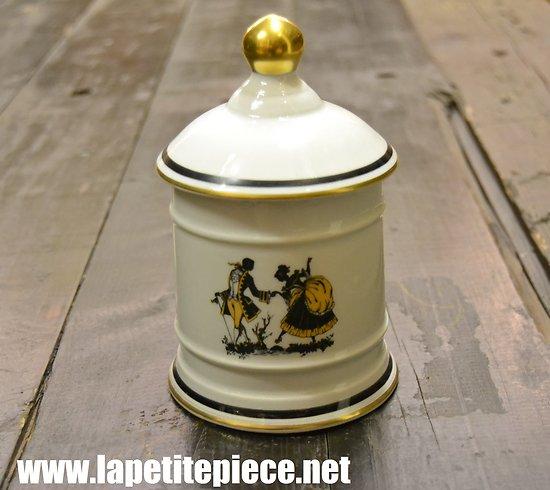 Pot à tabac Porcelaine de Limoges, tirage réservé F. Malher S.A. Bordeaux  (Opera)