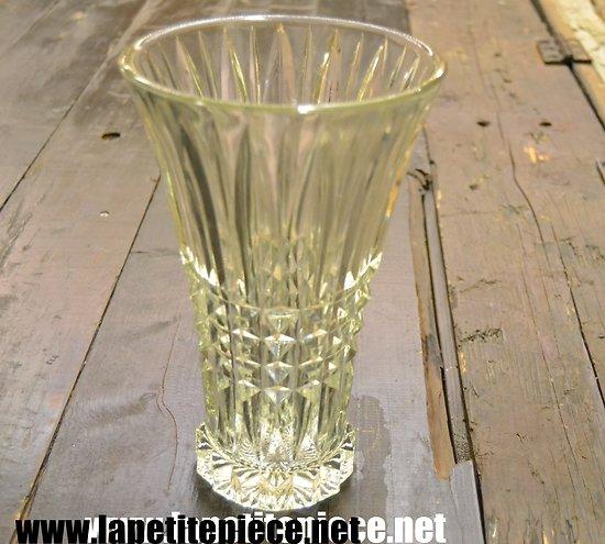 Vase en cristal / verre fumé 25cm