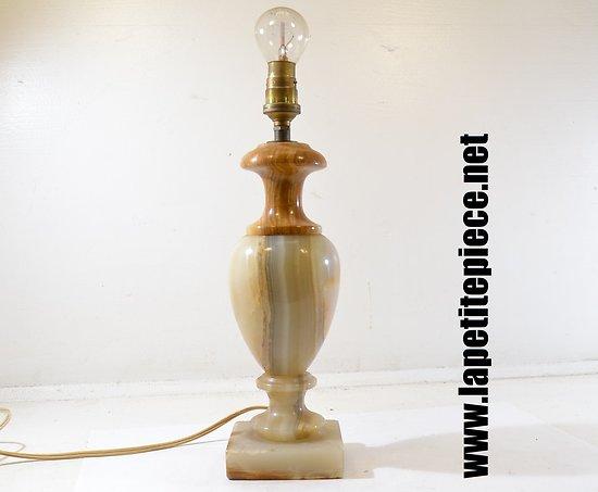 Lampe en marbre / onyx années 1960