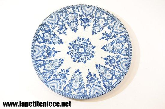 Assiette décor bleu, fin 19e - début 20e Siècle