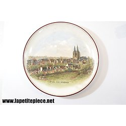 Assiette décorative St-Lô - vue générale, Fives Lille ( Manche / Normandie)