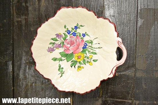Coupe - vide poche KG Luneville - décor floral