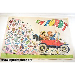 Poster Spirou FORD T - 1970