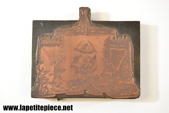 Plaque d'impression Eau Fort - naissance du Christ - fin 19e - début 20e Siècle