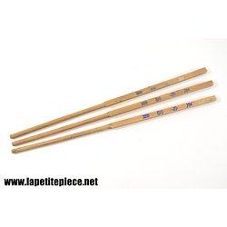 Ensemble de trois baguettes asiatiques anciennes