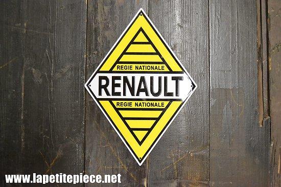 Plaque déco RENAULT régie nationale