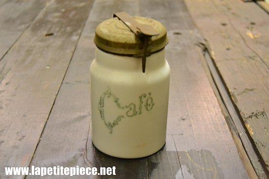 Pot à café début 20e siècle, couvercle à système EUREKA