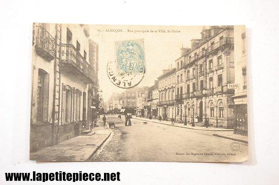 Alençon - rue principale de la ville, St-Blaise (Maison des magasins Réunis, Alençon, éditeur)