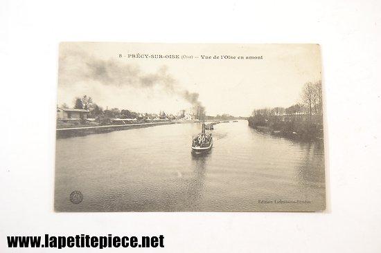 Précy sur Oise (Oise) - vue de l'Oise en amont (edition Lafontaine-Bondier)