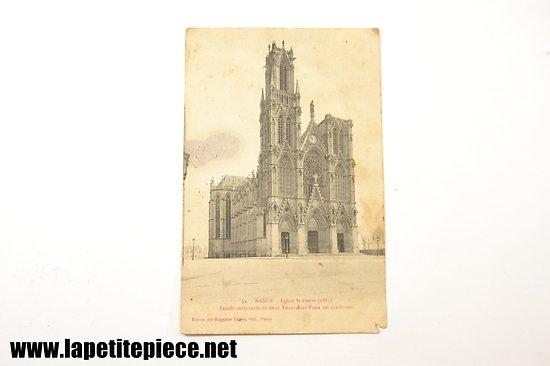 Nancy - Eglise St-Pierre (1885) façade surmontée de deux tours dont l'une est inachevée