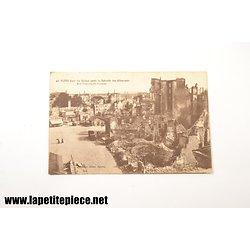 Reims dans les ruines après la retraite des Allemands rue Tronson-du-Coudray