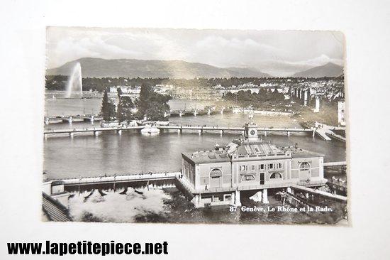 Genève le Rhône et la Rade