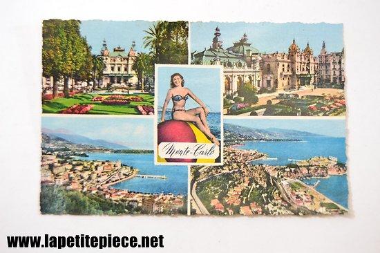 Monte-Carlo les jardins et le casino, le port, vue générale
