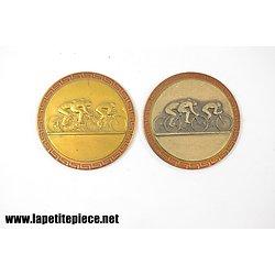 Lot deux médailles Tour du Hainaut (Belgique) 1966 et 1965 A.C.B.