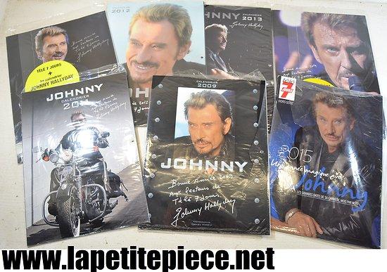 Johnny Hallyday - Série 7 calendriers Télé 7 jours