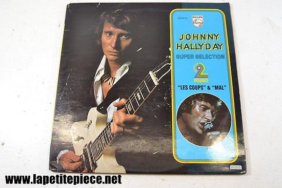 Johnny Hallyday - super sélection - album double 33T