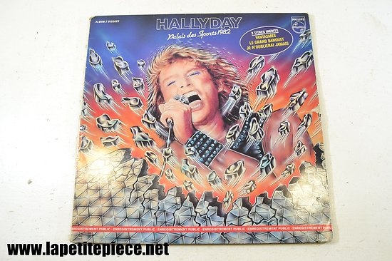 Johnny Hallyday - Palais des sports 1982 - album double 33T