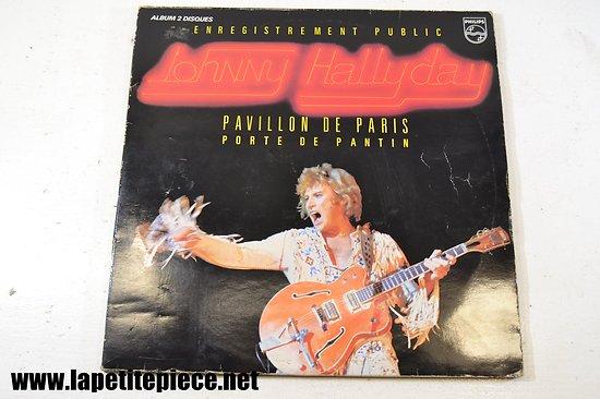 Johnny Hallyday - Pavillon de Paris - porte de pantin - album double 33T