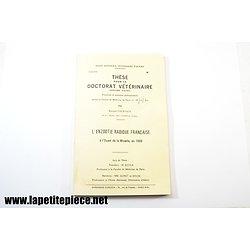 Livre - Thèse de doctorat vétérinaire - L'enzootie rabique française à l'ouest de la Moselle en 1969
