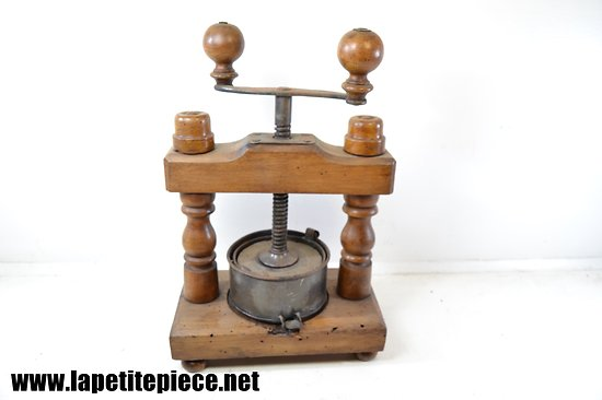 Pressoir de table fin 19e - début 20e Siècle