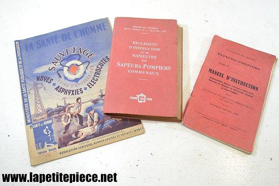 Livres sapeurs pompiers, années 1950  (Ardennes)
